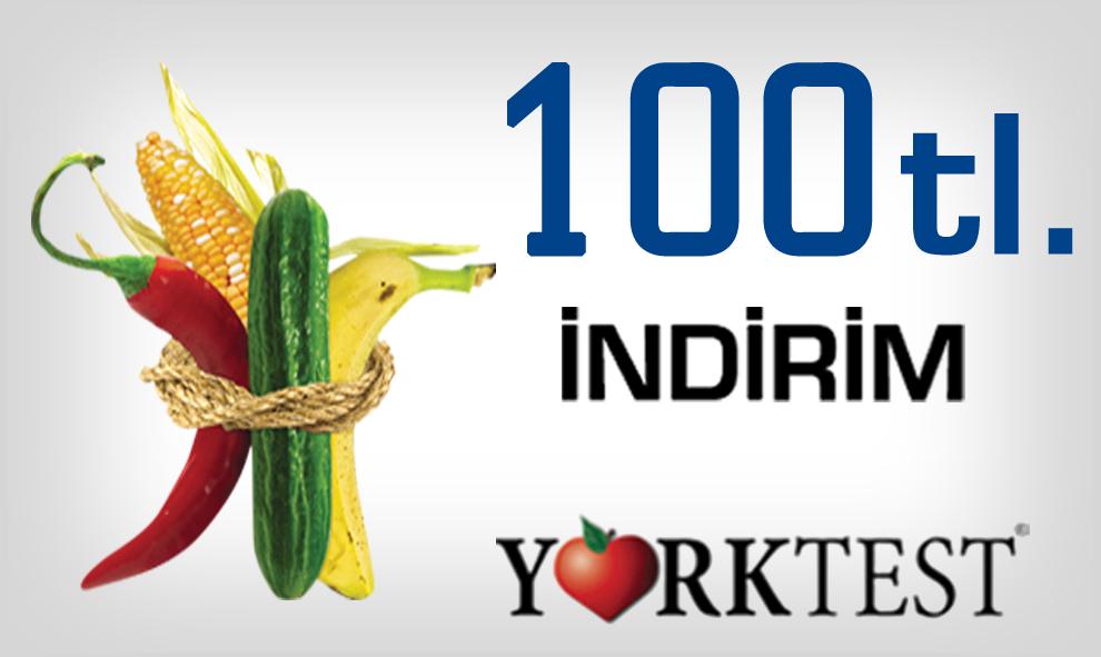 Tahlil.com okurlarına York Test Türkiye'nin Sunduğu 100 TL İndirim Devam Ediyor