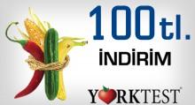 Ankara'da 100 TL indirimli York Test Fırsat Kuponu Tahlil.com'da